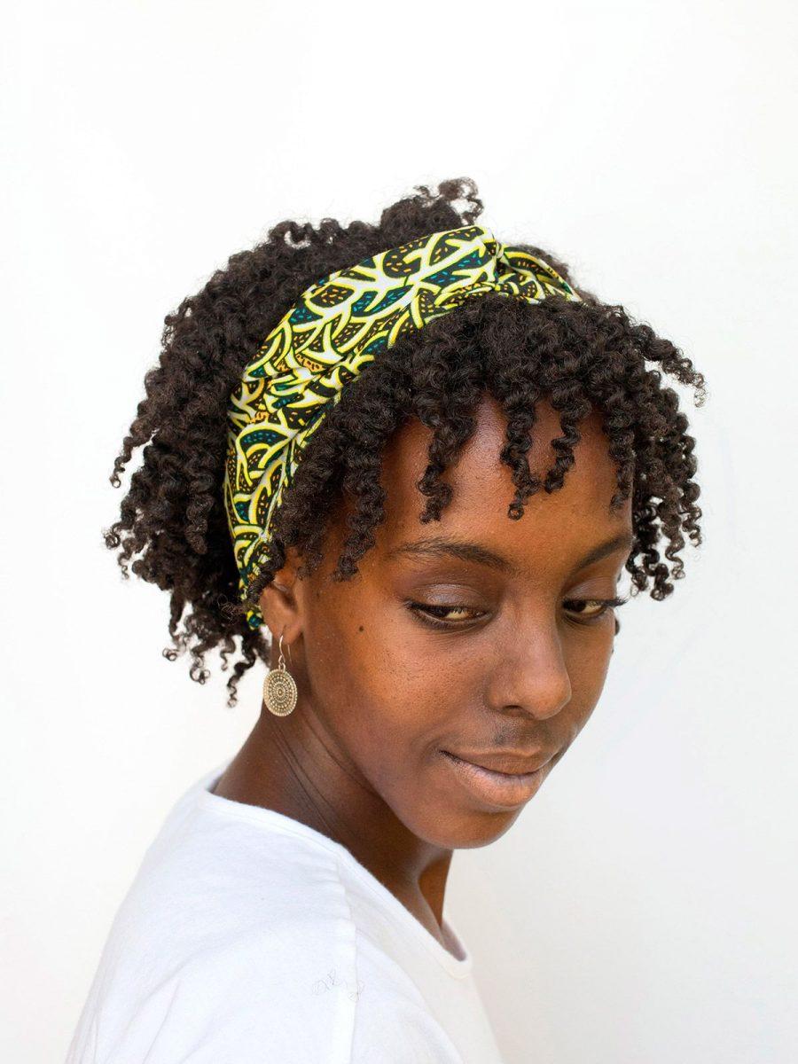 Bandana pelo tela africana verde