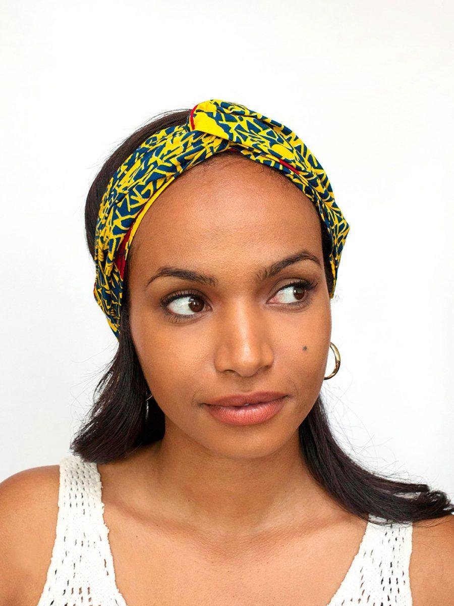 bandana-cinta-pelo-tela-africana-wax-handmade-estampada-amarillo-azul-ukat