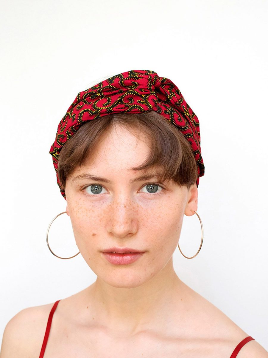 Bandana tela africana roja