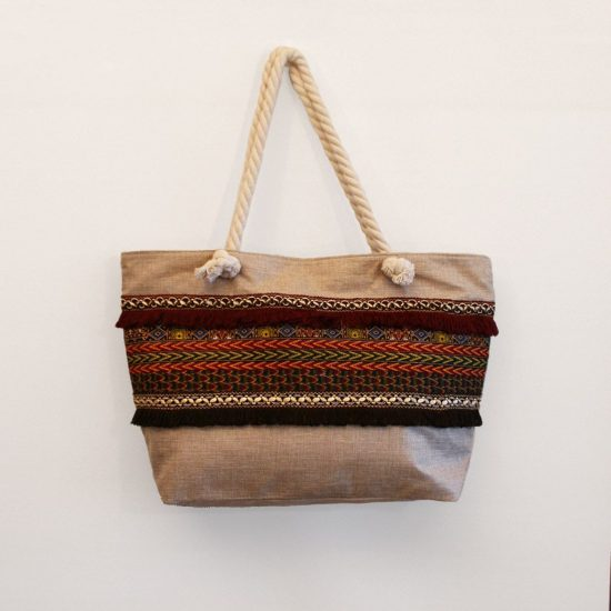 bolsa playa grande familiar rayas tela wax ukat