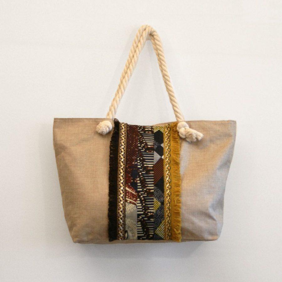 bolsa playa grande flecos tela africana ukat