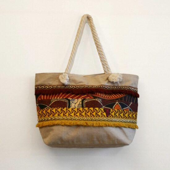 bolsa playa grande personalizada patchwork africano ukat