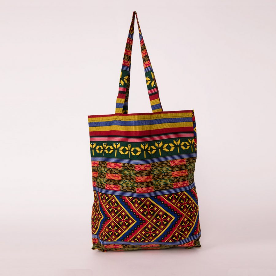 bolsa plegable handmade senegal wax estampada multicolor