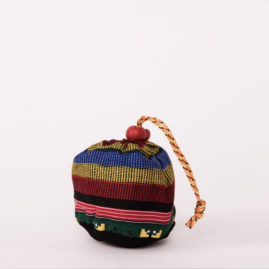 bolsa plegable handmade senegal wax estampada multicolor