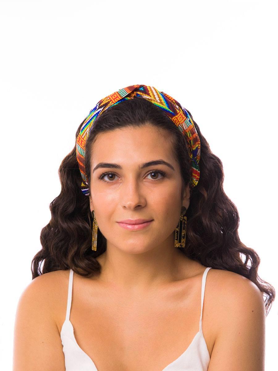 Bandana diadema cinta pelo tela africana wax handmade estampada multicolor ukat